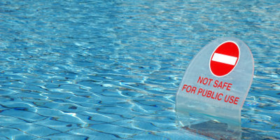 Unclean swimming pool water can cause ear infections and cryptosporidium on holiday